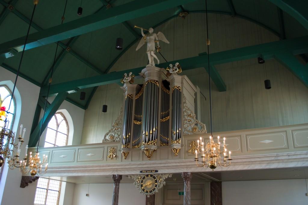 Het kerkorgel van de Grote- of Johanneskerk. (Foto: Bas de Zeeuw)