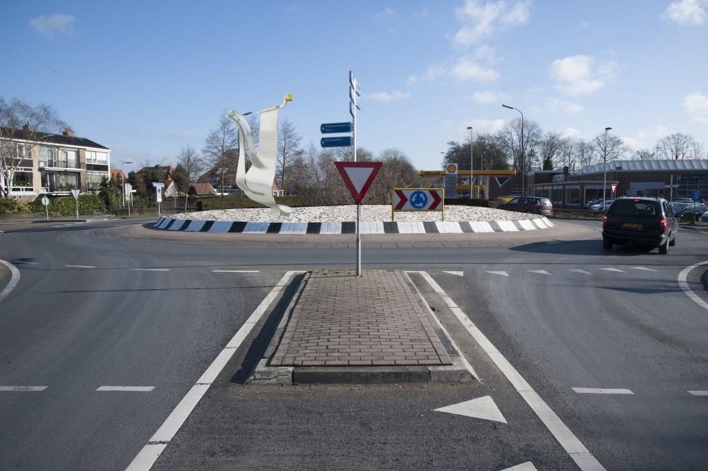 De rotonde Mr Kesperplein. (Foto: Rob Glastra)