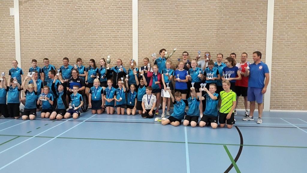 Badmintonclub Blue Sky kroont clubkampioenen