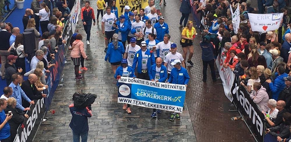 Roparunteam Lekkerkerk loopt ruim 38.000 euro bij elkaar