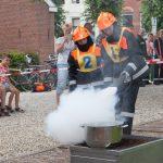 Jonge brandweerlieden in actie in Haastrecht