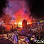 Uitslaande brand op woonboot Krimpen a/d IJssel