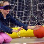 Clinic Goalball op Concordiaplein Haastrecht
