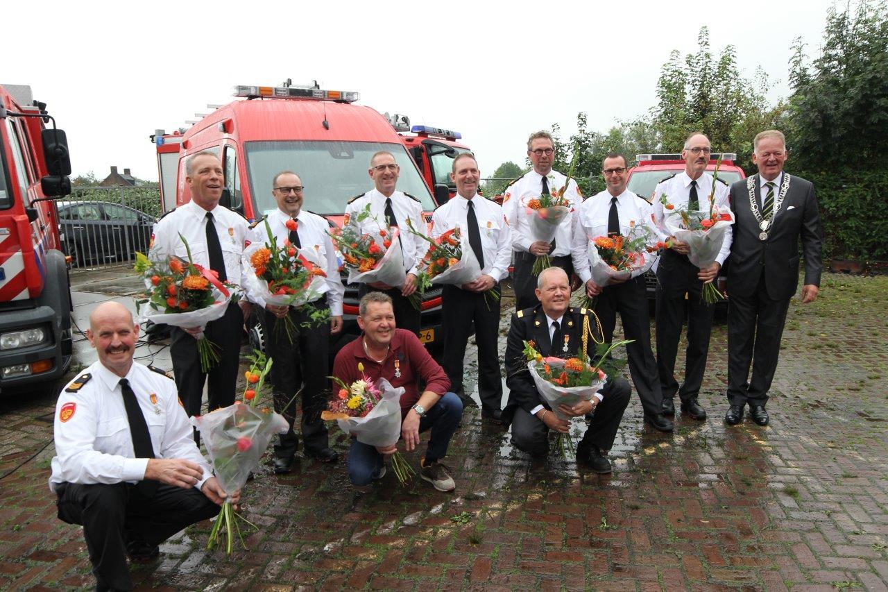 Lintjesregen bij de Brandweer Schoonhoven