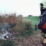 Brandweer Schoonhoven blust buitenbrandje