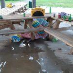 Vandalen houden huis bij entreegebouw Krimpenerhout