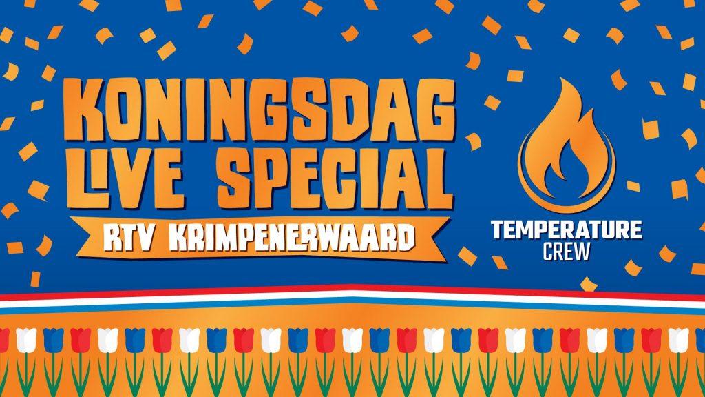 Temperature Crew verzorgt speciale muziekmiddag op radio, tv en internet tijdens Koningsdag 2021