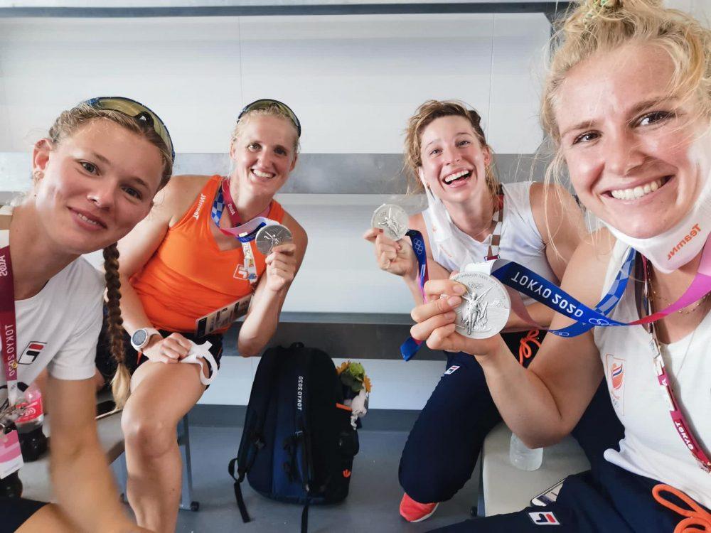 Ellen Hogerwerf neemt met Olympisch zilver afscheid van het roeien
