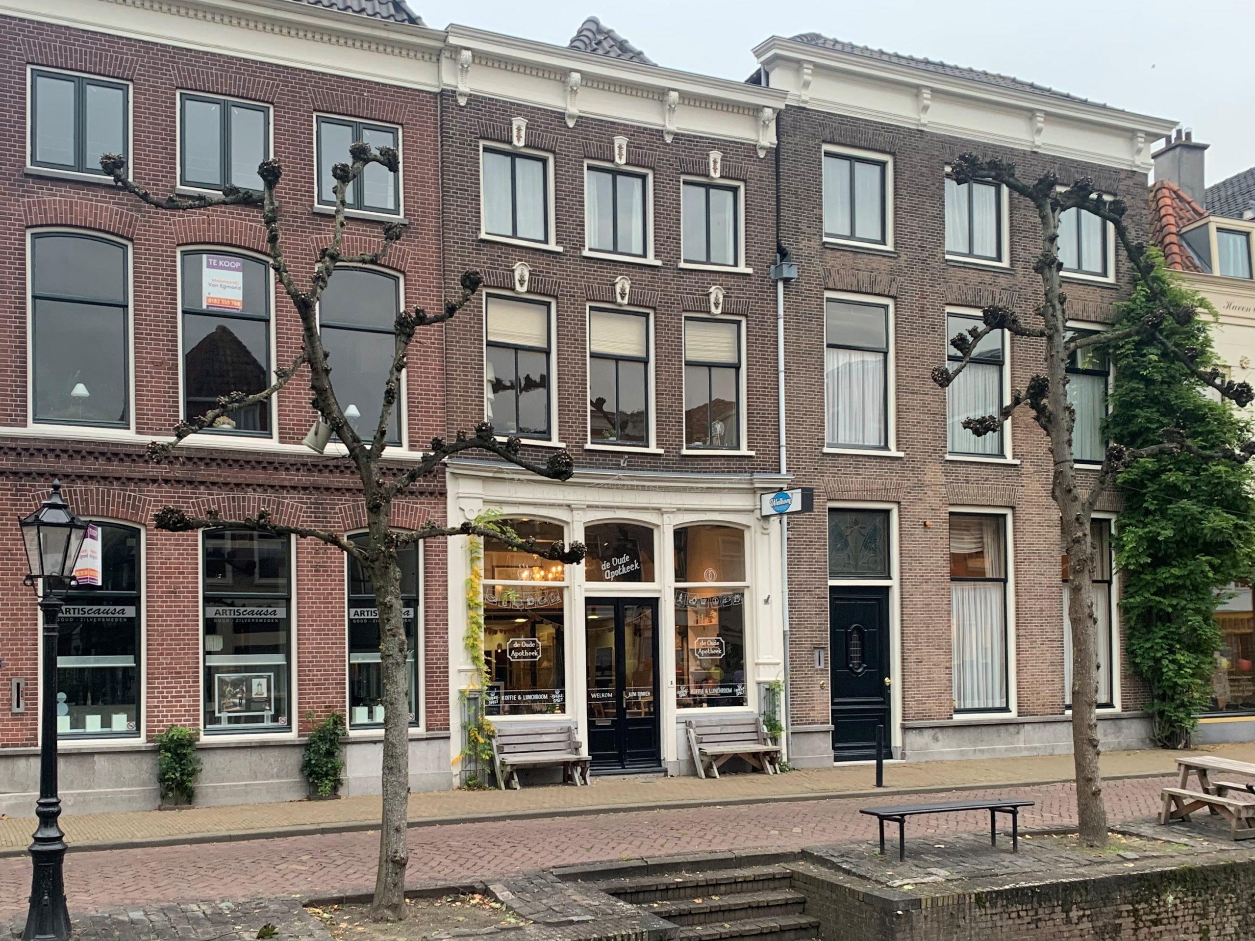 Pand 'Oude Apotheek' in Schoonhoven staat in de verkoop
