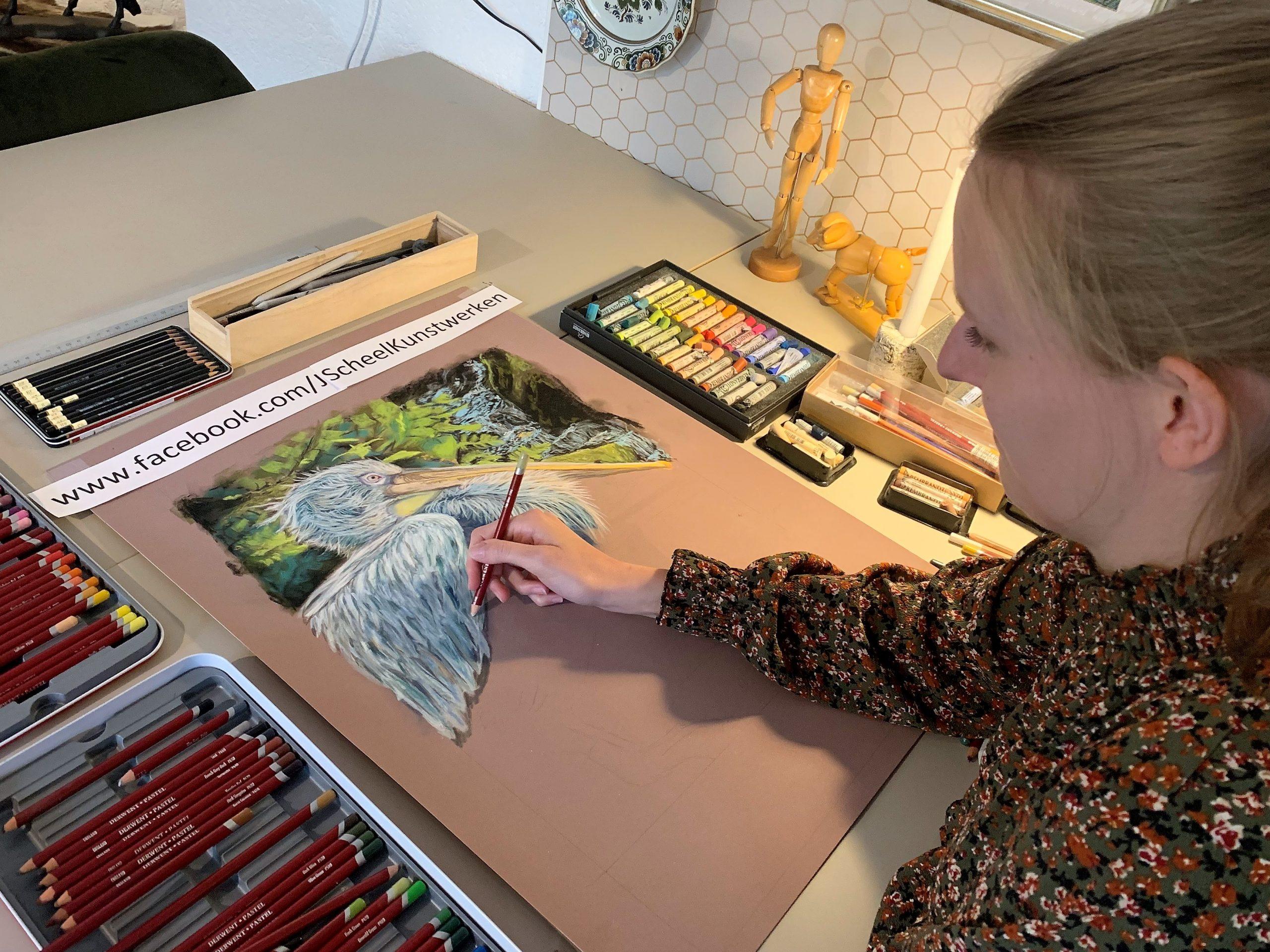 Talentvolle Jessica Scheel verbaast met haar levensechte schilderijen