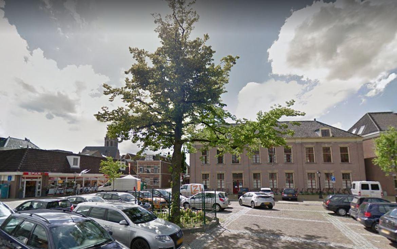 Noodkap Julianaboom op Doelenplein in Schoonhoven