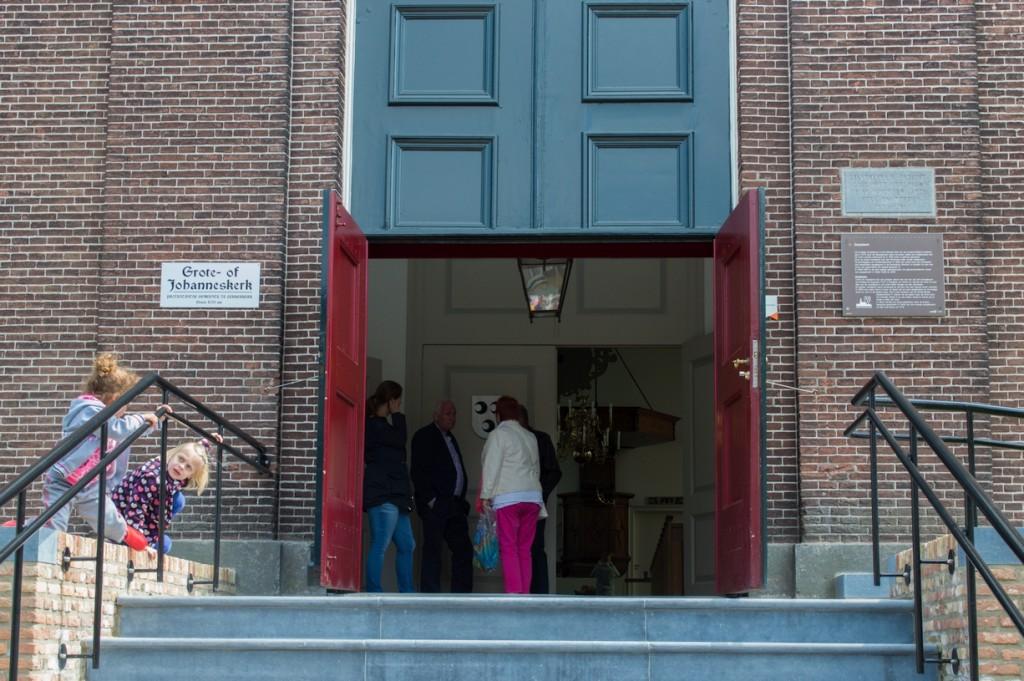 Bezichtiging van Grote- of Johanneskerk. (Foto: Bas de Zeeuw)